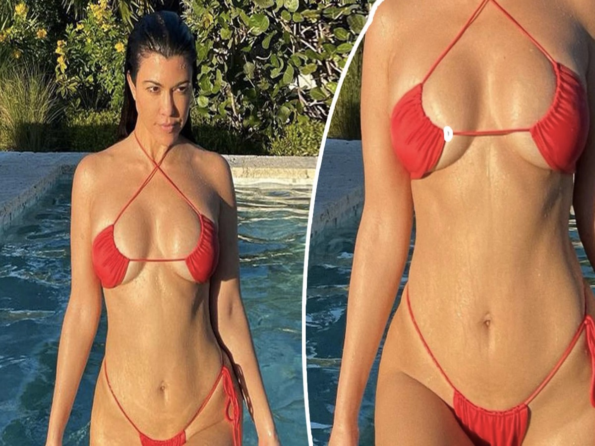 Kourtney Kardashian Shares New Seductive Pic in White Bikini